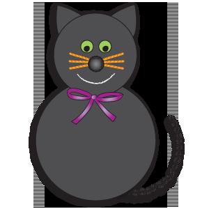 Halloween Craft: black cat