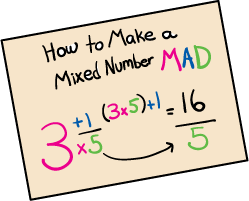 Mixed Numbers And Improper Fractions on How To Turn Decimal Into Fraction