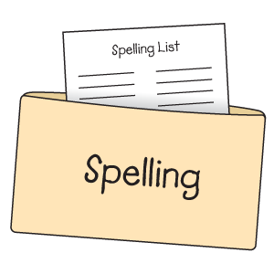extra papers spelling folder example