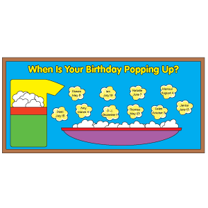 Classroom Display: birthdays