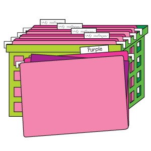 Storage Tip: construction paper