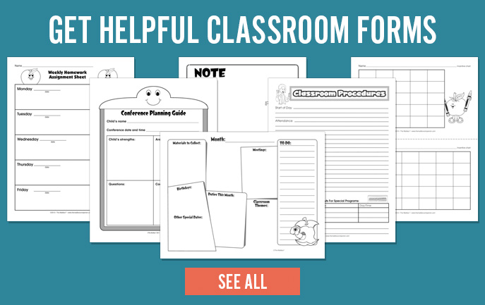 Get Helpful Classroom Forms