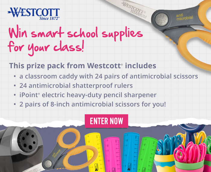Win smart school supplies for your class! Enter now.