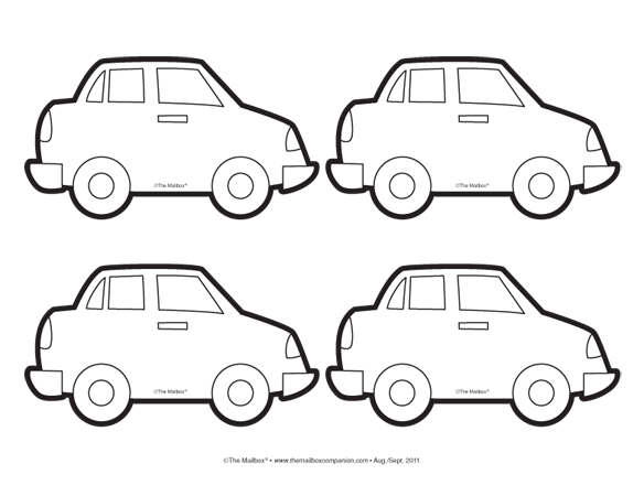 car coloring pages for preschool - photo#15