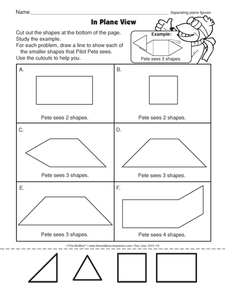 Plane Shapes Worksheets First Grade furthermore plane figures ...