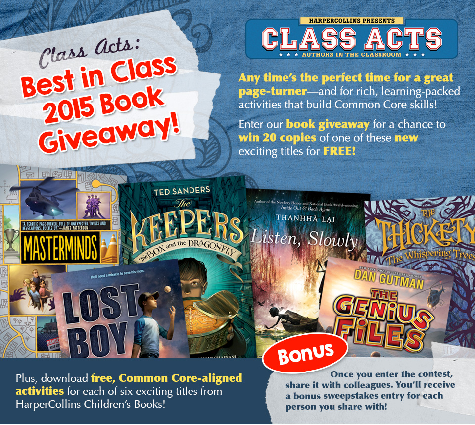 HarperCollins - Class Acts: Best in Class 2015 Book Giveaway! Enter now.