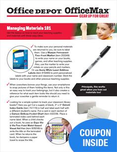 Managing Materials 101
