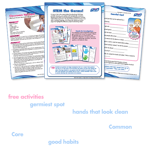 Teach the science behind handwashing with free activities. Click here.