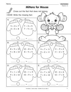 multiplication fact family worksheets 3rd grade