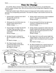 math worksheet : results for making change  guest  the mailbox : Making Change Math Worksheets