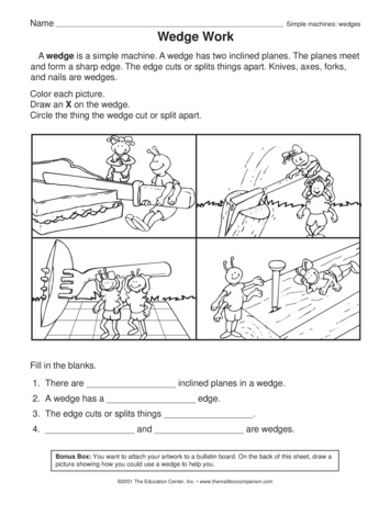 simple machine worksheets for
