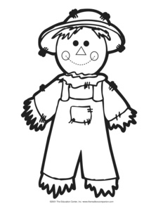 image relating to Scarecrow Pattern Printable titled Glimpse: scarecrow - The Mailbox