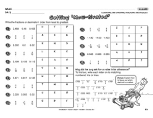 math worksheet : results for fractions and decimals  guest  the mailbox : Comparing And Ordering Fractions And Decimals Worksheet