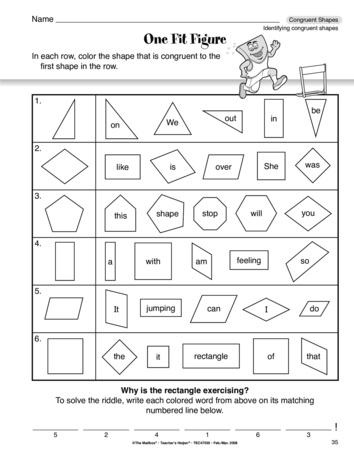 free printable worksheets congruent figures worksheets third grade and shape on. Black Bedroom Furniture Sets. Home Design Ideas
