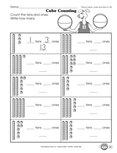 math worksheet : results for math worksheets  1 nbt b 2  guest  the mailbox : Math Tens And Ones Worksheets