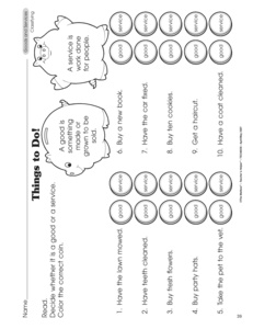 Printables Goods And Services Worksheets results for goods and services worksheet guest the mailbox social studies services
