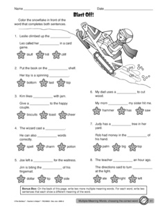 math worksheet : results for multiple meaning words  guest  the mailbox : Words With Multiple Meanings Worksheet