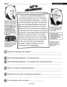 comprehension worksheets for the presidential election just b cause. Black Bedroom Furniture Sets. Home Design Ideas