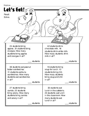 Counting Number worksheets : worksheets on addition word problems ...