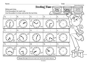 time worksheet new 308 time worksheet nearest 5 minutes. Black Bedroom Furniture Sets. Home Design Ideas