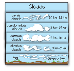 picture about Types of Clouds Worksheet Printable known as Appear: clouds - The Mailbox