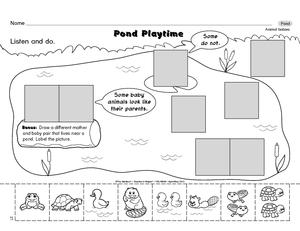 ... worksheet guest the, pond life worksheet science worksheet animal