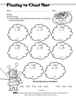 math worksheet : results for 2 digit by 2 digit multiplication  guest  the mailbox : Whole Number Multiplication Worksheets