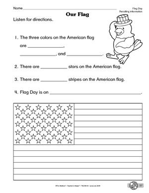 United States Worksheets For Kindergarten