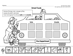 Fire Safety Worksheets: Free Printables - The Happy Housewife ...