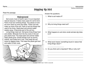 Soil layers worksheet quotes for Soil layers worksheet