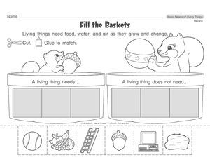 """Homework: 1) """"Living vs NON-living worksheet 2) Needs of living ..."""