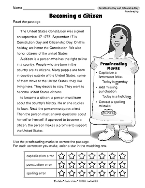 Worksheets Citizenship Worksheets results for constitution worksheet guest the mailbox language arts proofreading day and citizenship day