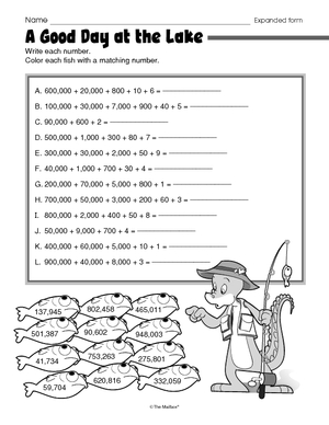 Worksheet Word Form Math Worksheets results for place value guest the mailbox math worksheet expanded form 2 nbt a 3
