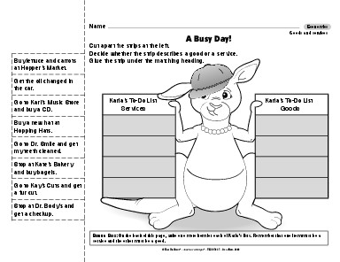 Results for goods and services worksheet | Guest - The Mailbox