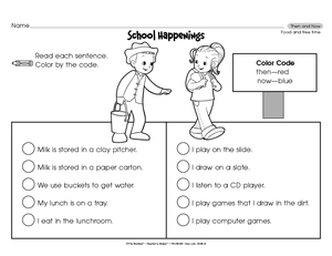 math worksheet : results for then and now  worksheet  guest  the mailbox : Free Kindergarten Social Studies Worksheets