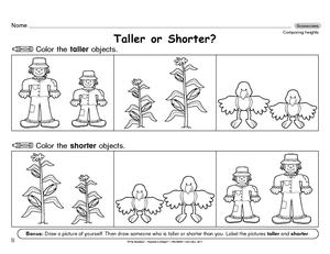 math worksheet : results for kindergarten worksheets  k md a 2  guest  the mailbox : Capacity Worksheets For Kindergarten