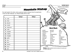 Worksheet Synonyms And Antonyms Worksheets results for synonyms and antonyms worksheet guest the mailbox language arts antonyms