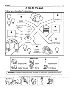Printables Parts Of A Map Worksheet results for map skills kindergarten guest the mailbox social studies worksheet using symbols