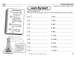 Printables Divisibility Rules Worksheet divisibility rule worksheet using rules math results for isibility guest the mailbox worksheet