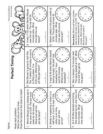 Teacher Ideas & Activities: Telling time