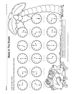 Printables Time To The Half Hour Worksheets results for telling time to the half hour guest mailbox math worksheet and 1 md b 3