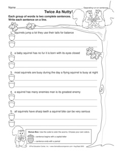 Gallery images and information: Run On Sentence Worksheet