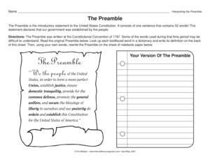 Worksheets Preamble Worksheet preamble scramble worksheet sharebrowse delibertad