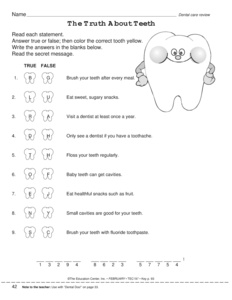 Results for dental health | worksheet | Guest - The Mailbox