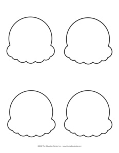 Ice Cream Cone Template Images Of Ice Cream Cones To Color Free