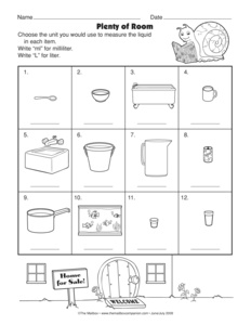 math worksheet : results for math worksheets  3 md a 2  guest  the mailbox : Kindergarten Capacity Worksheets