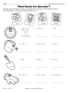 Printables Evaluating Expressions Worksheet results for evaluating algebraic expressions guest the mailbox math worksheet 5 oa a 1