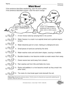 Printables Weathering And Erosion Worksheet results for weathering and erosion worksheet guest the mailbox science weathering