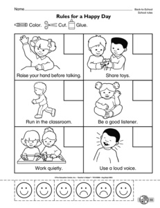back to school worksheet classroom rules