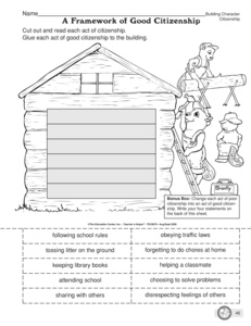 Printables Citizenship Worksheets results for good citizen guest the mailbox social studies worksheet citizenship